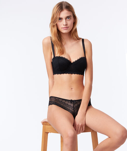 Bandeau bra with removable straps