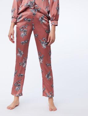 Zebra print trousers pink.