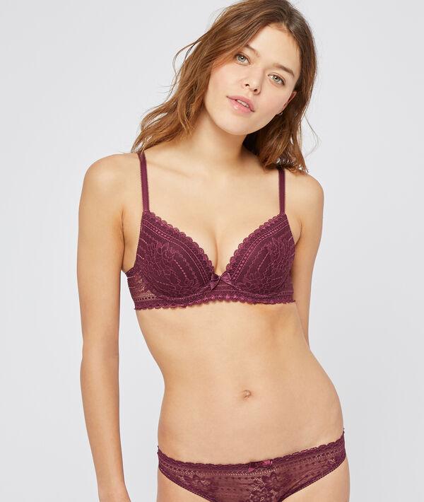 Bra n°2 - plunge push-up bra;${refinementColor}