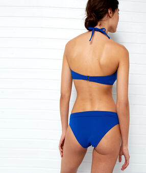 Haut de maillot de bain push-up bleu royal.