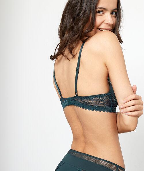 Graphic lace bra