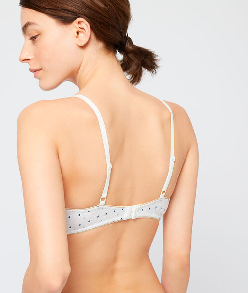 Polka dot triangle bra