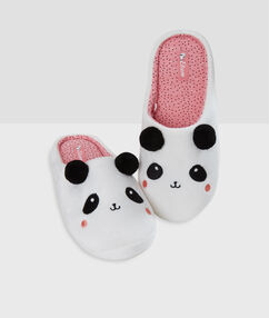 Panda slippers white.