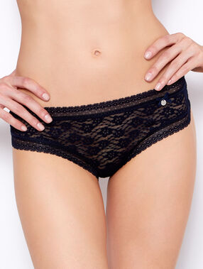 Floral lace tanga midnight blue.