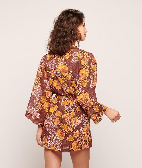 Floral print kimono;${refinementColor}