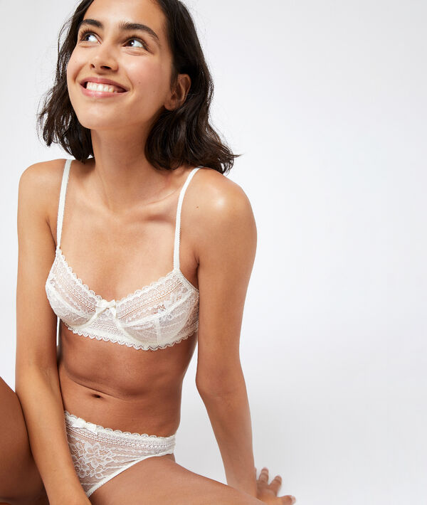 Non-padded lace bra