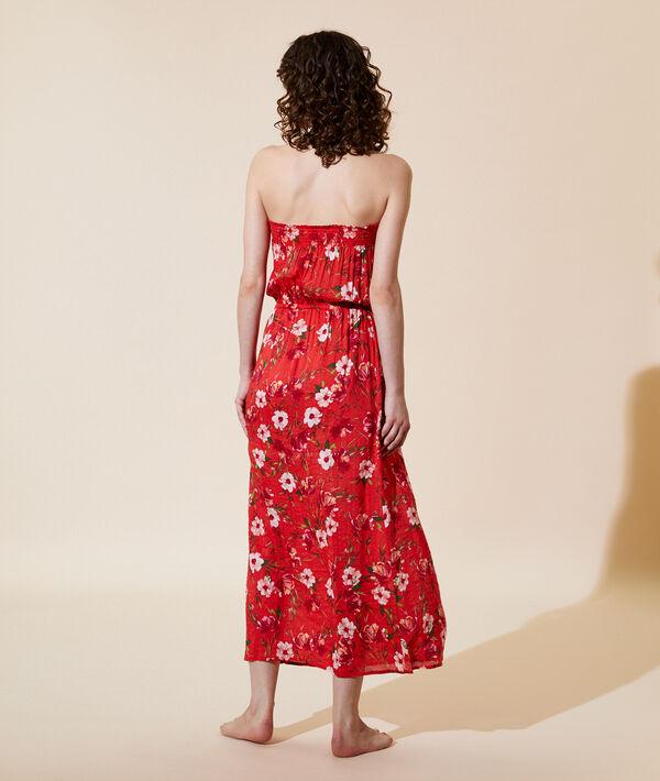 Robe longue imprimé floral;${refinementColor}