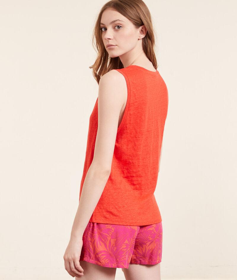 Solid colour pyjama tank ;${refinementColor}