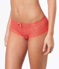 Lace shorts coral.