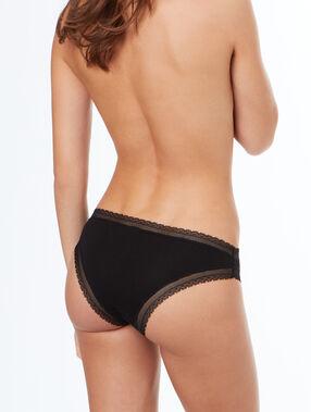 Modal cotton knicker black.