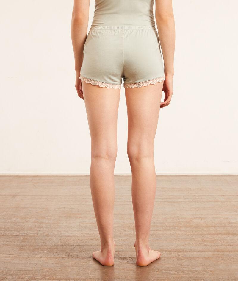 Shorts with lace details;${refinementColor}