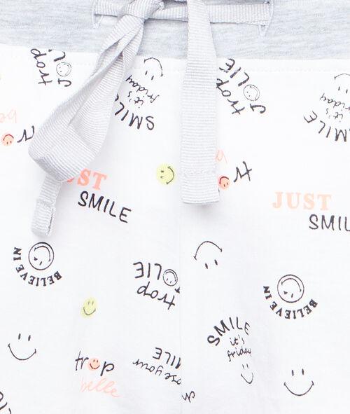 Printed Smiley pyjama shorts