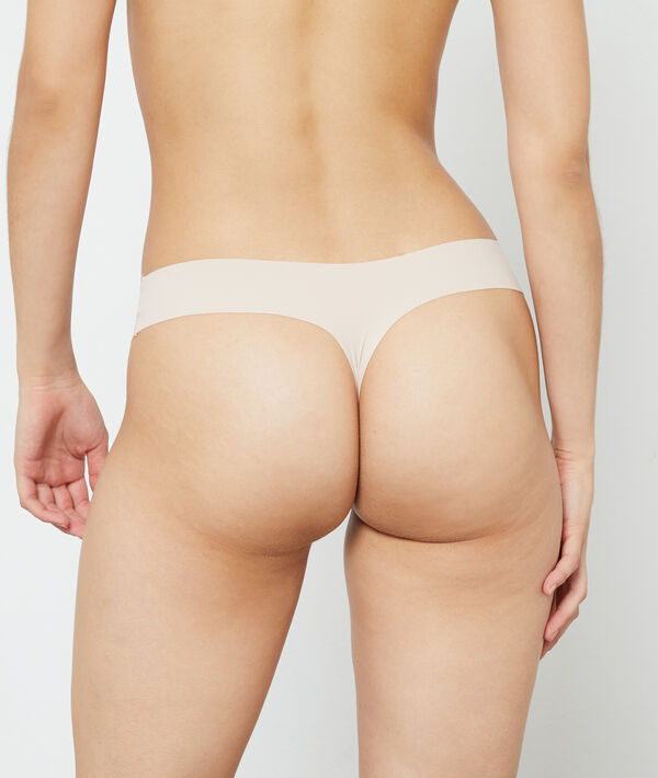 Invisible microfiber thong