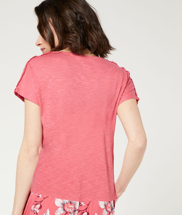 T-shirt with guipure details;${refinementColor}