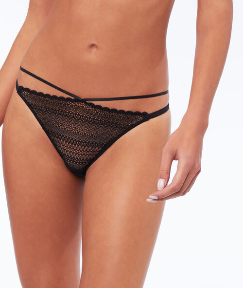 High-cut panties with straps