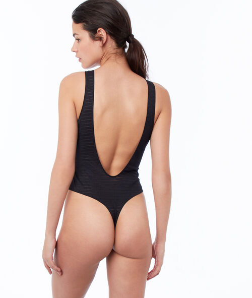 Laced thong bodysuit