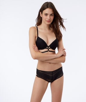 Bra n°2 - push up bra with laces black.