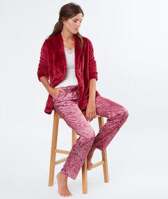 Pyjamas 3 teilig rot.