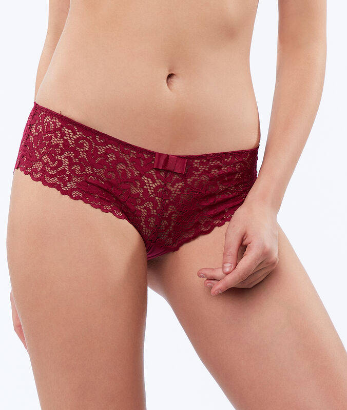 Lace shorts plum.