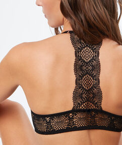 Bra no. 4 - classic padded bra with racer back black.