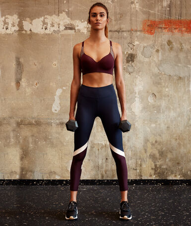 Tricolor 7/8 leggings navy.