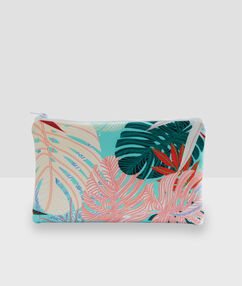 Tropical printed clutch multicolor.