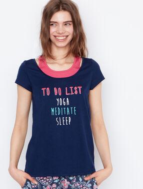 Printed t-shirt blue.