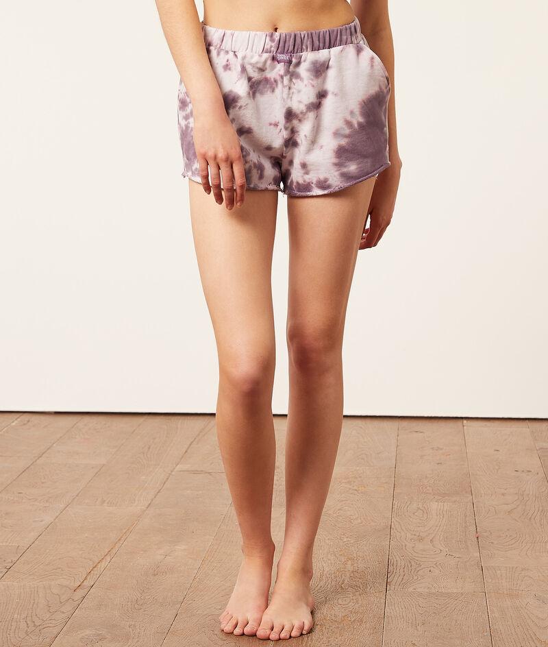 Tie-dye pyjama shorts;${refinementColor}