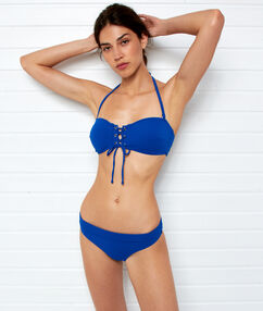 Bas de bikini multiposition bleu royal.