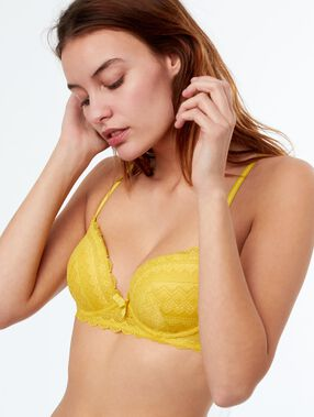 Bra no. 1 - lace push-up bra anis.