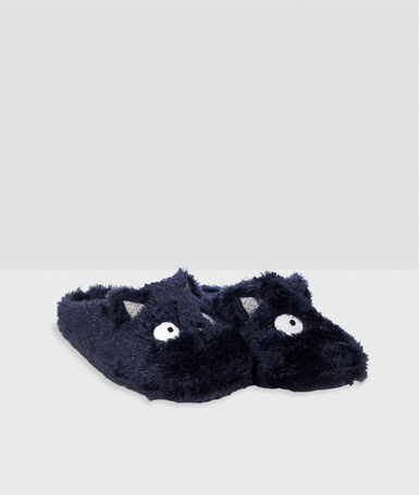 Animal slippers navy blue.