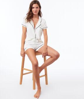 Pyjama shirt ecru.