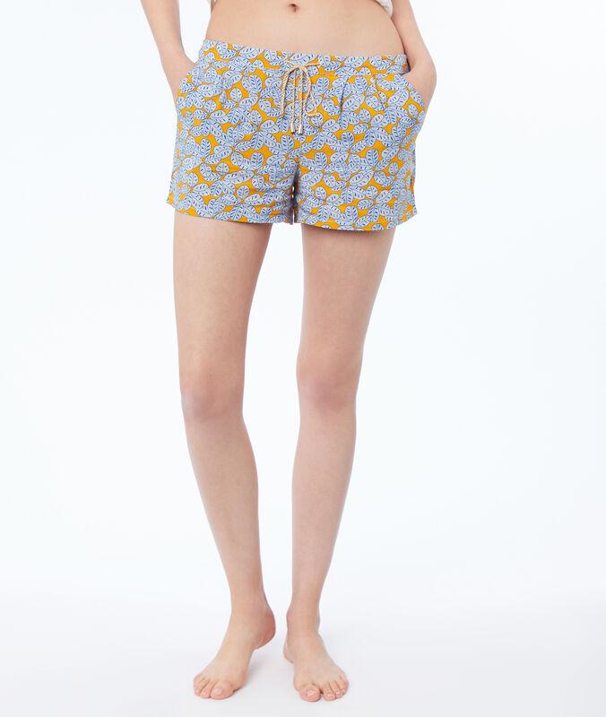 Printed shorts ocre.