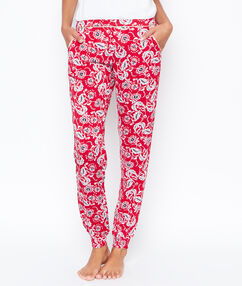 Printed trouser red.
