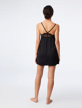 Lace chemise black.