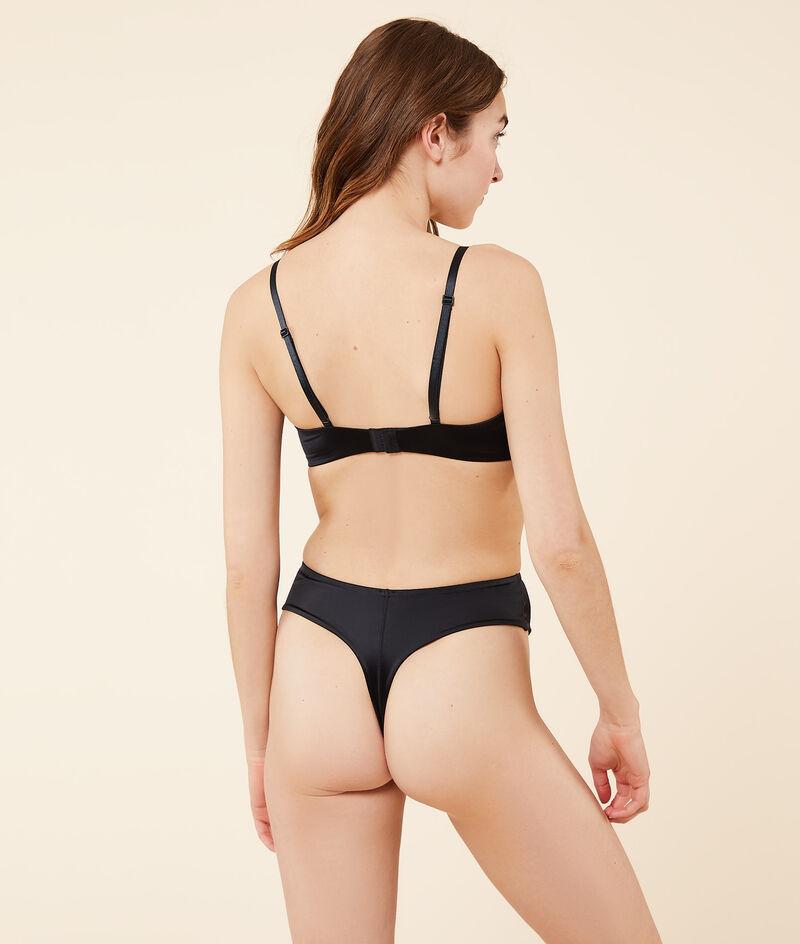 Non-wired satin bra with thin padding;${refinementColor}