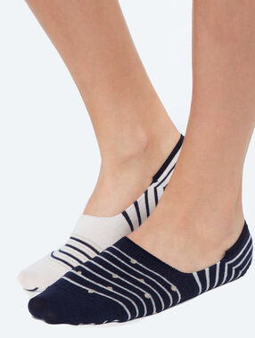 2-pair invisible socks navy.