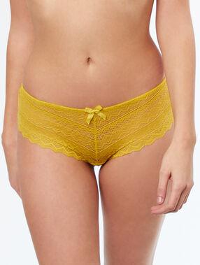 Shorty aus spitze gelb.