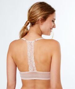 Push-up bra, racer back powder pink.