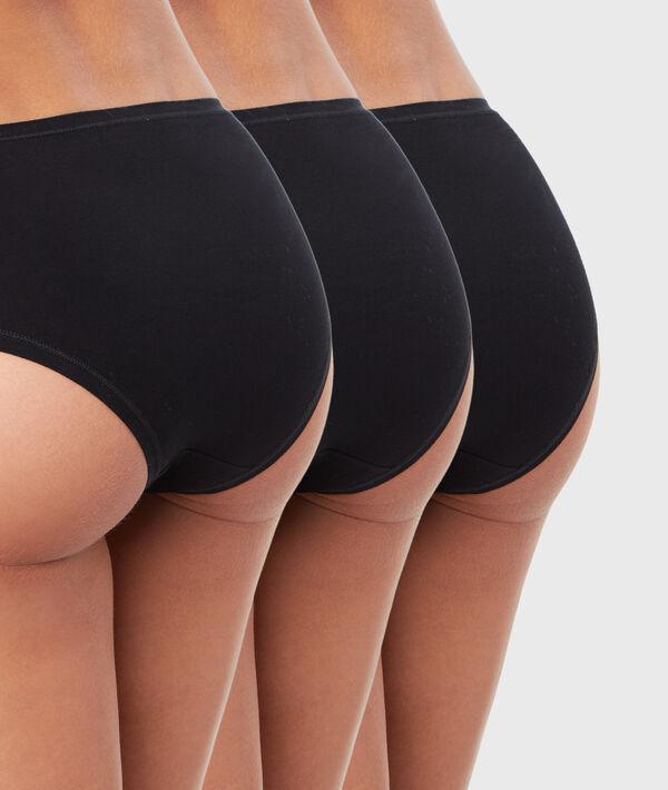 Pack of 3 plain cotton shorts