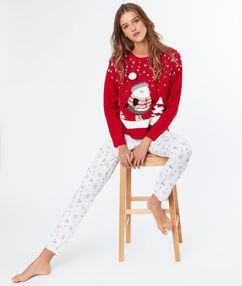 Christmas pijama pants off-white.