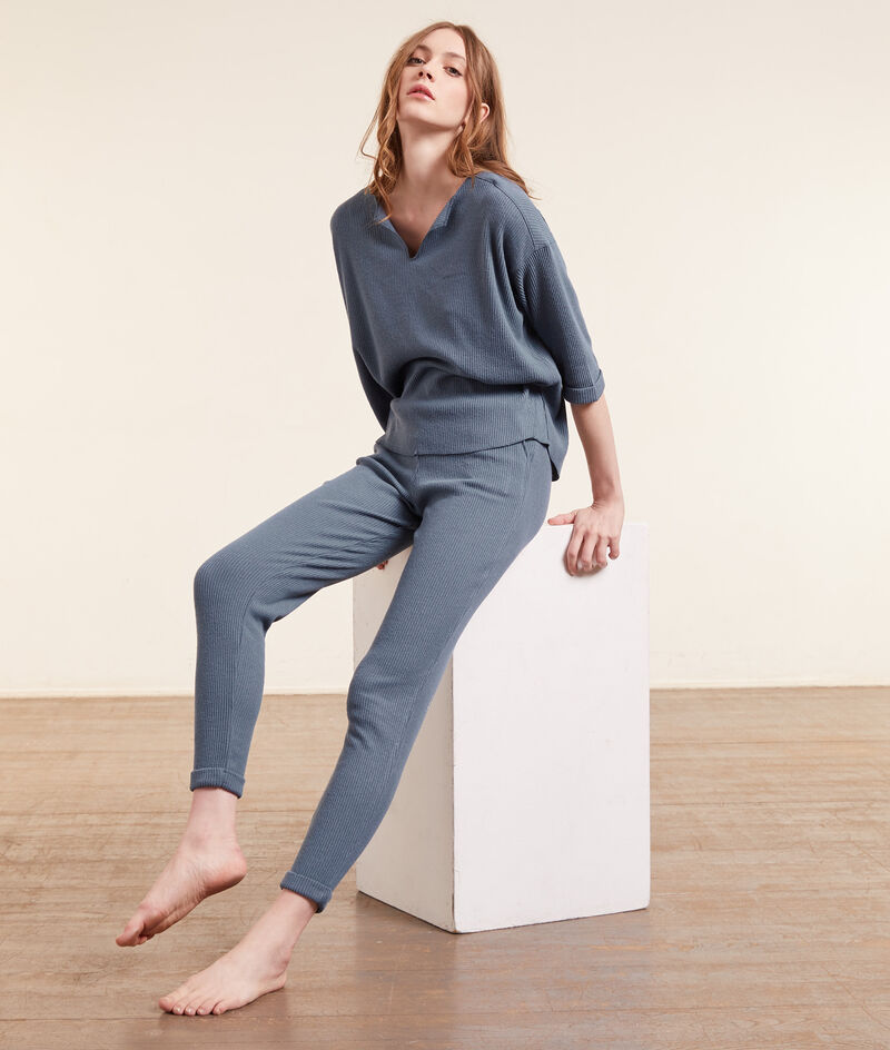 Ribbed jogging trousers ;${refinementColor}