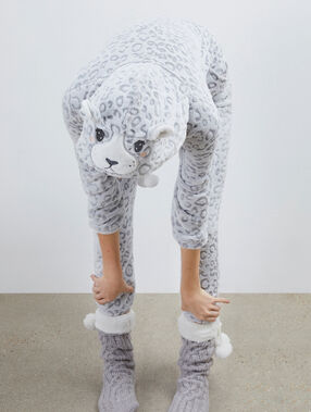 Panther onesie gray.