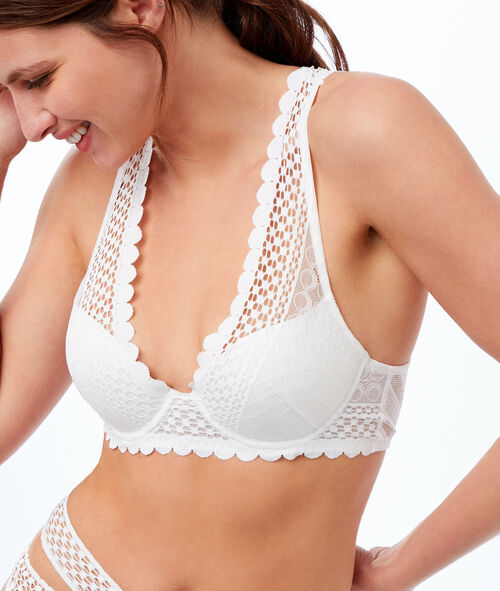 Bra no. 3 - openwork lace triangle push-up bra