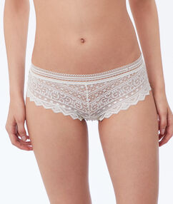Lace shorts pearl.