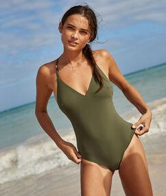One piece swimsuit khaki.