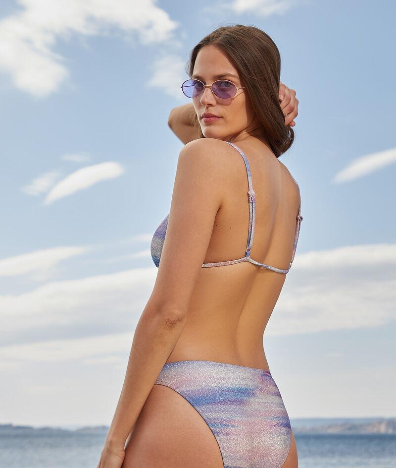 Wireless strappy triangle bikini top;${refinementColor}
