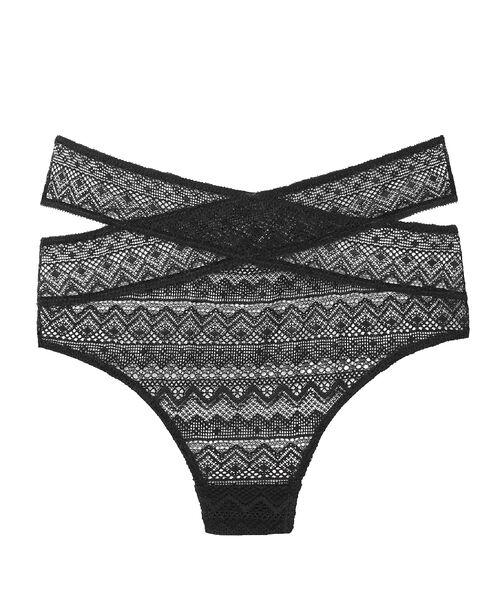 Openwork lace tanga