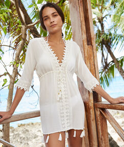 Beach tunic white.