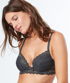 Magic up bra grey/gold.
